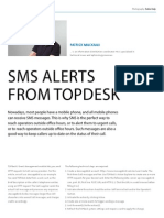 SMS alerts from TOPdesk