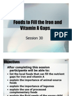 Session 30  Foods to fill the iron and vit A gap