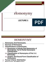 Pr5 Homonymy