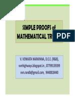 Math Truths their SimpleProofs