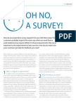 Oh no, a survey!