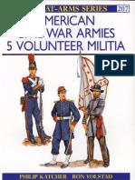 Men-At-Arms 207 - American Civil War Armies (5) Volunteer Militia