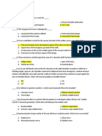 PE of the Upper Extremities Questionnaires