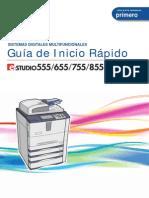 E-STUDIO555 855 Guia de Inicio Rapido Ver 01
