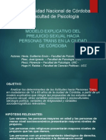 Eapt y Prejuicio Trans - Congreso Cyp 23 a 25 Abril 2014