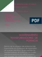 Mantenimiento Transformadores de Potencia