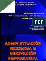 Administracion Moderna e Imnovacion Empresarial