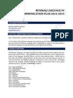 communication plan m2014