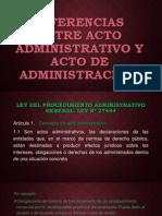 14. Actos de La Administración. Diferencias Con El Acto Administrativo