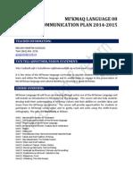 communication plan m82014
