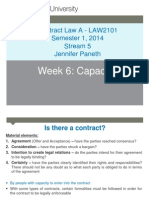 Contract Law - Notes (Capacity)