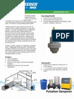 Pulsation Dampener Tech Sheet