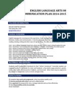 communication plan ela82014