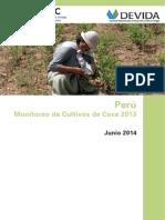 Monitoreo de Cultivos de Coca en Peru 2014