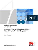 OSN 8800 6800 3800 V100R006C03 Installing, Operating and Maintaining Your Network(for Field Engineer) 01