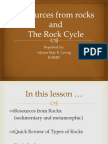 Resources From Rocks