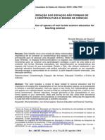 A CARACTERIZAÇÃO DOS ESPAÇOS NÃO FORMAIS DE EDUCAÇÃO CIENTÍFICA PARA O ENSINO DE CIÊNCIAS