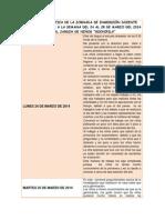 Diario de Practica de La Jornada de Inmersión Docente Correspondiente a La Semana Del 24 Al 28 de Marzo Del 2014 en El Jardin de Niños