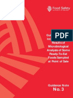 Guidelines for the Interpretation of Microbiological Analysis of RTE Foods