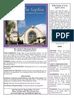 Santa Sophia Bulletin 6 Apr 2014
