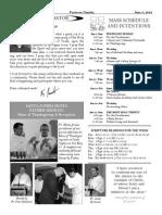 Santa Sophia Bulletin 8 Jun 2014
