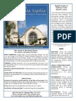 Santa Sophia Bulletin 2 Mar 2014