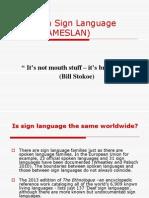 American Sign Language (ASL or AMESLAN)