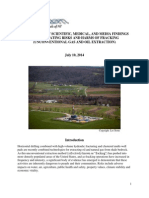 COMPENDIUM OF SCIENTIFIC, MEDICAL, AND MEDIA FINDINGS DEMONSTRATING RISKS AND HARMS OF FRACKING (UNCONVENTIONAL GAS AND OIL EXTRACTION)