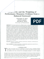 vIttner & Larcker, Subjectivity and the weighting of performance measures, 2003