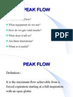 Peak flow W