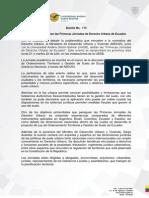 Boletín Jornadas de Derecho Urbano de Ecuador