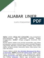Kuliah Pengantar Aljabar Linier 2013