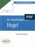 Le Vocabulaire de Hegel