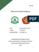 Tetanus Neonatorum