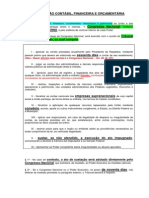 Da Fiscalização Contábil - Tcu
