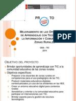 Presentación ODA - TIC - Aula POP UP
