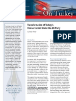 Transformation of Turkey's Conservatism Under the AK Party