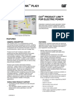 (LEHE0402-01) CAT® PRODUCT LINK™ FOR ELECTRIC POWER