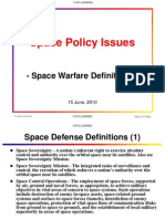 Space Policy-Space Warfare Definitions-Unclassified
