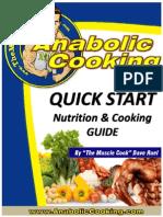 Quickstart- Nutrition & Cooking