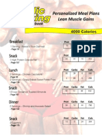 Lean Muscle Mass Meal Plan - 4000 Calories