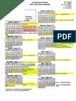 ConVal Calendar 2014-2015
