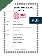 Tratado de Libre Comercio Entre Perú y China