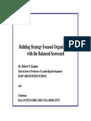 Balanced Score Card[1]   Strategic Management   Profit