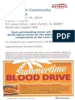 Lake Zurich Community Blood Drive