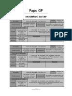 Papogp Template Dicionário Da Eap