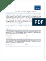Arizona Republican Primary Survey Topline Results 071114