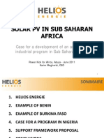 Solar PV Sub Saharan