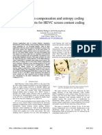 Intra motion compensation and entropy coding  improvements for HEVC screen content coding
