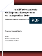 Informe IV Relevamiento 2014